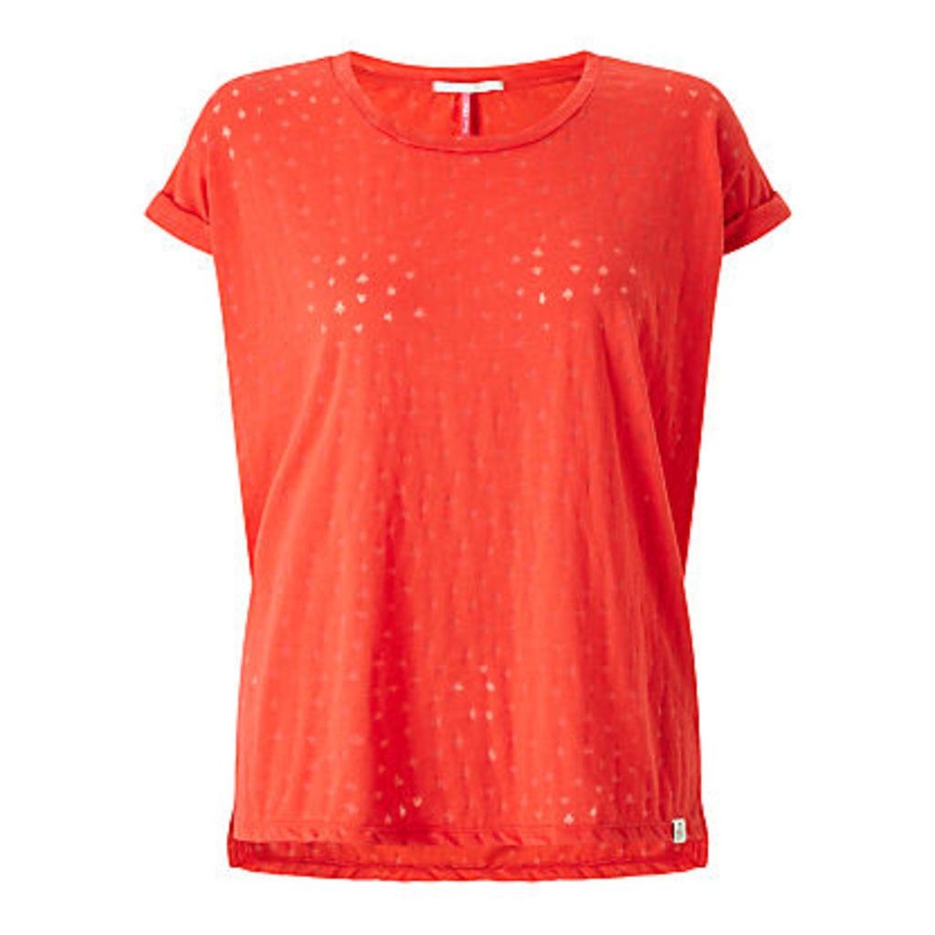 Maison Scotch Ausbrenner T-Shirt, Chilli Red