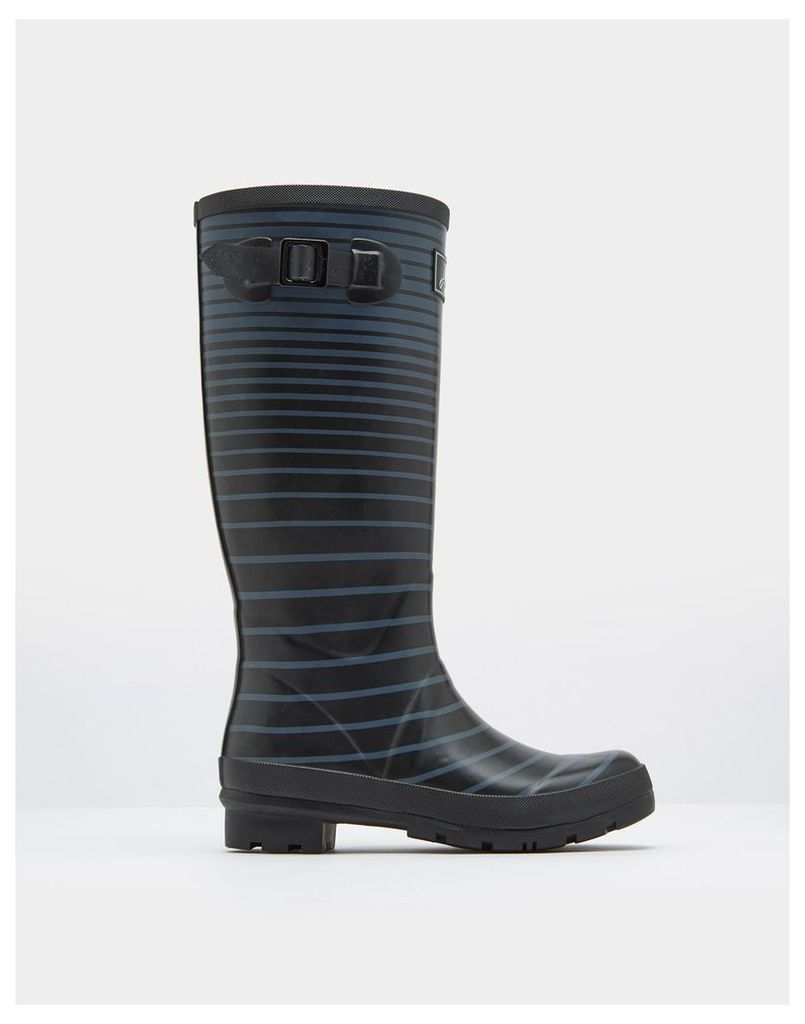 Cool Grey Ombre Stripe Printed Wellies  Size Adult Size 7 | Joules UK