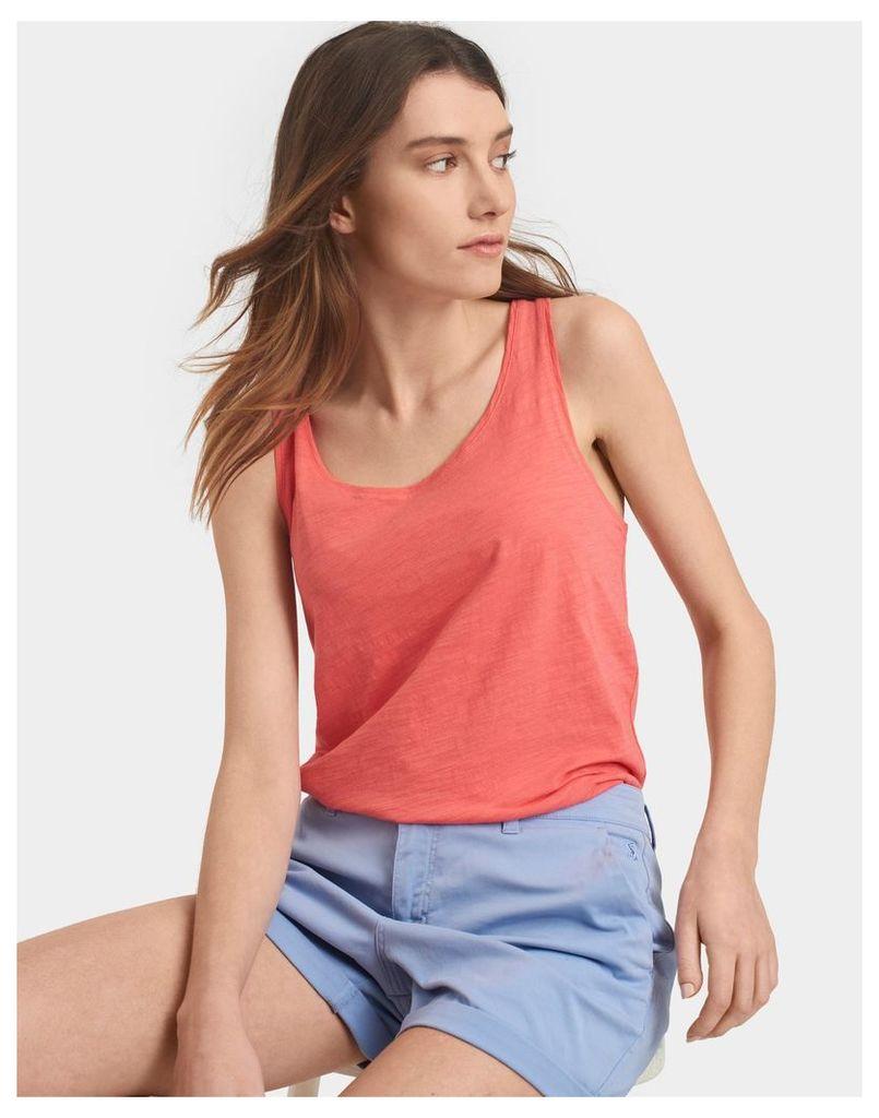 Soft Coral Bo Basic Vest  Size 6 | Joules UK
