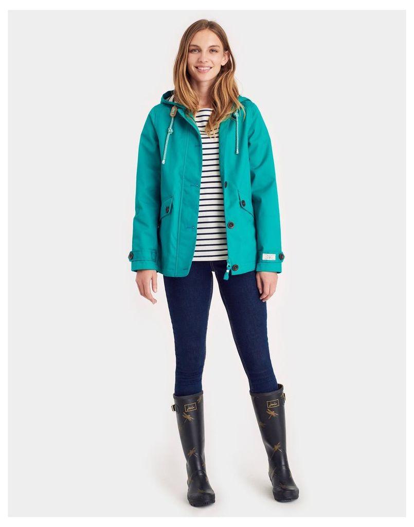 Emerald Green Coast Waterproof Jacket  Size 12 | Joules UK