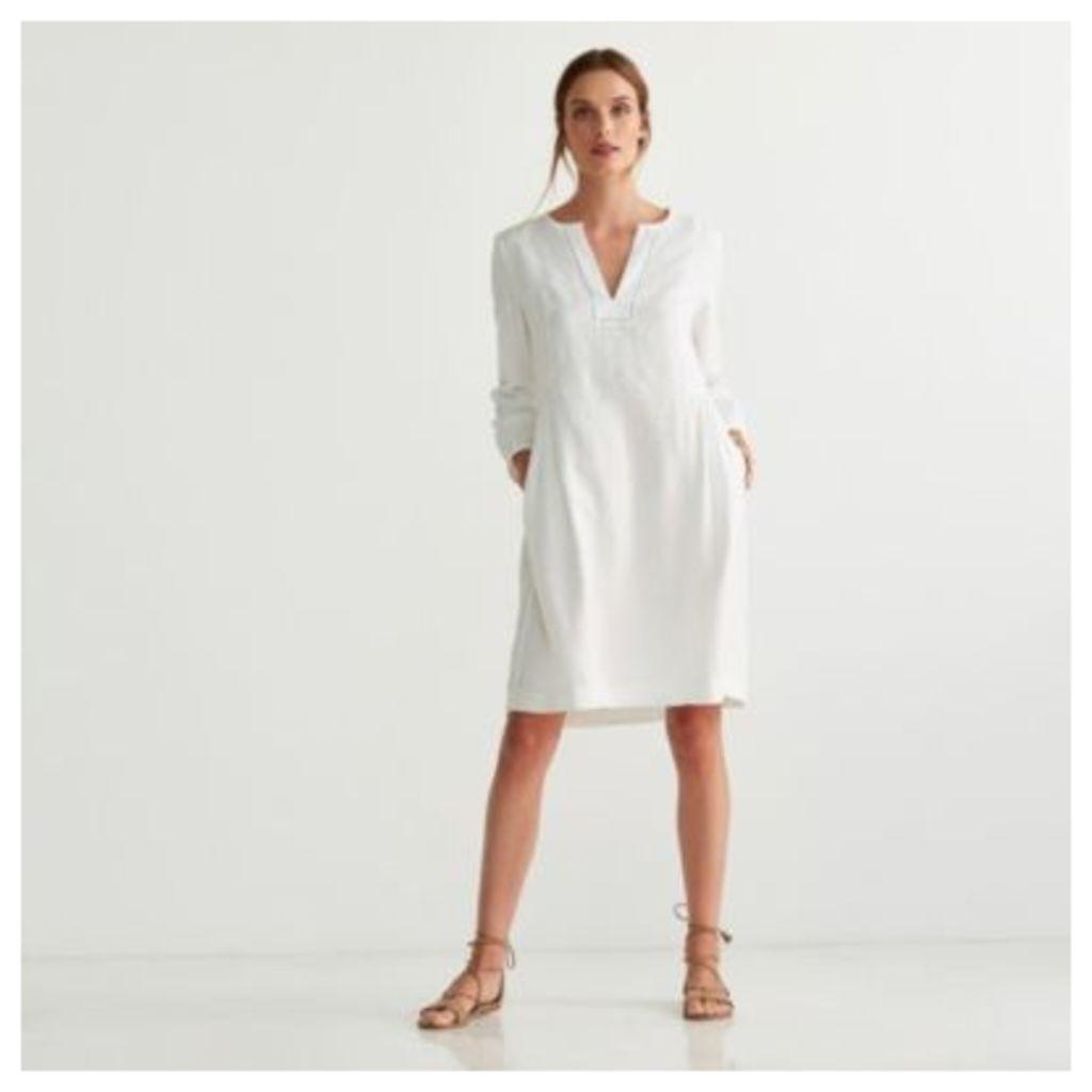 Linen Gathered Dress