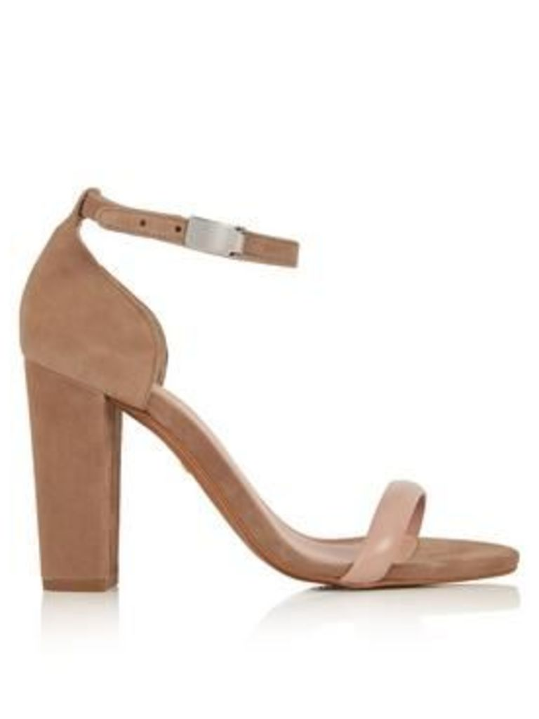 Whistles Hyde Single Sole Heeled Sandals - Nude
