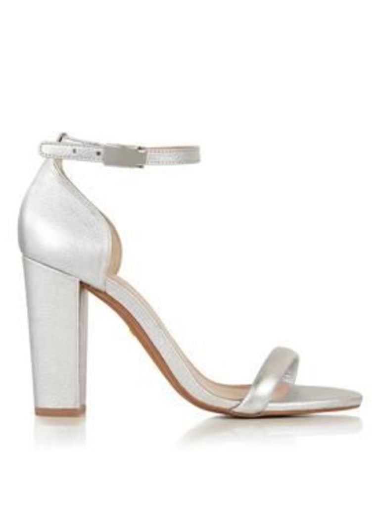Whistles Hyde Single Sole Heeled Sandals - Silver