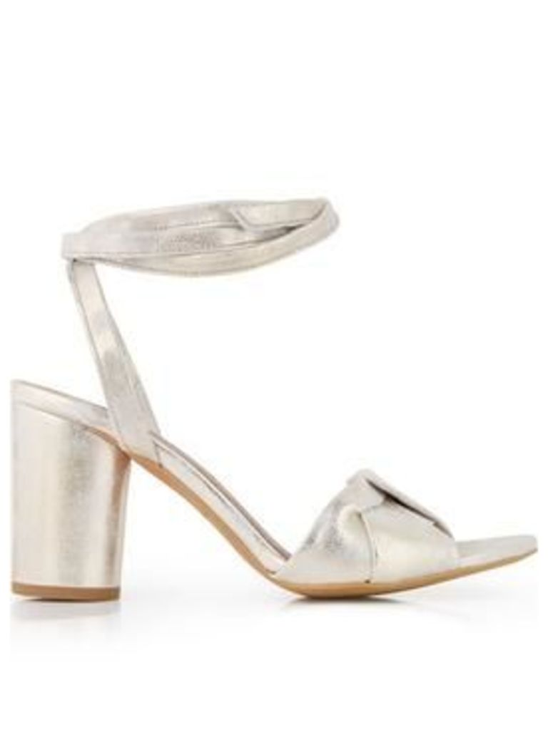 Hudson Fiji Heeled Ankle Tie Sandals - Gold