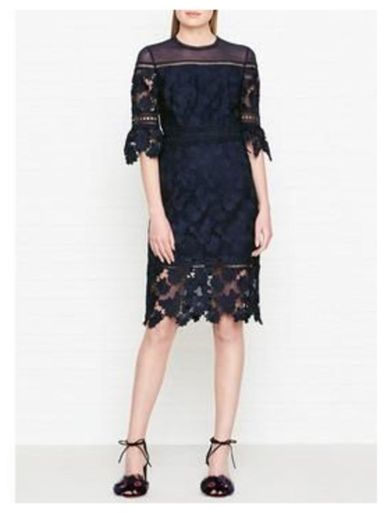 Whistles Amanda Lace Dress - Navy
