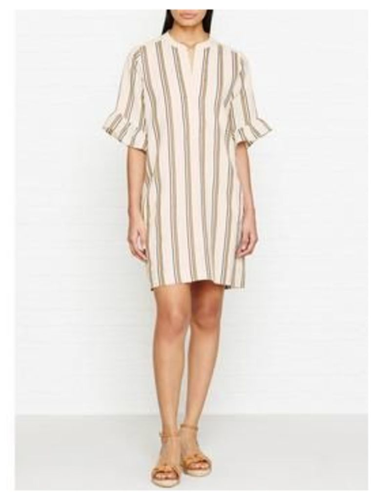 Whistles Margarita Linen Stripe Dress - Multicolour