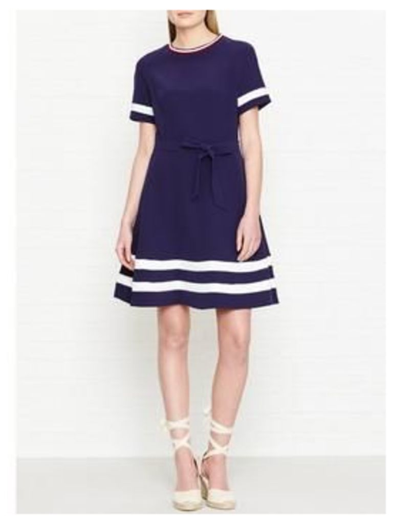 Tommy Hilfiger Jillian Fit And Flare Dress - Navy