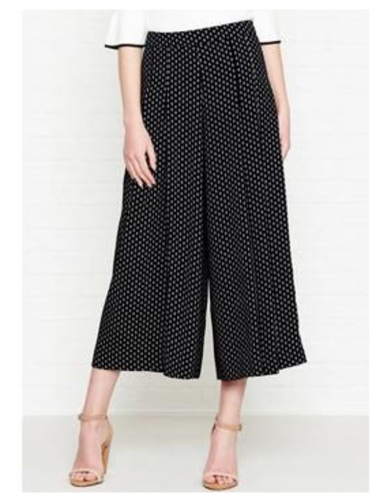 Whistles Leila Amena Pleated Trousers - Black