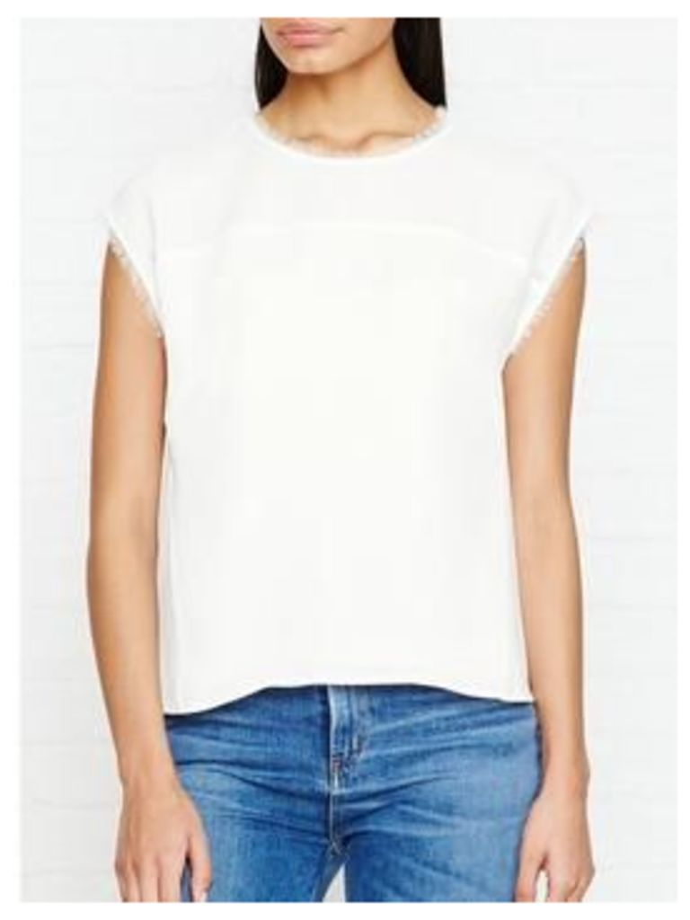 Whistles Gia Shell Top - Ivory