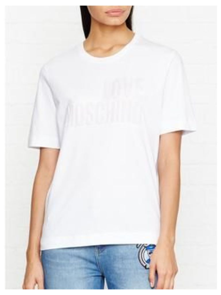 Love Moschino Embossed Logo T-Shirt - White