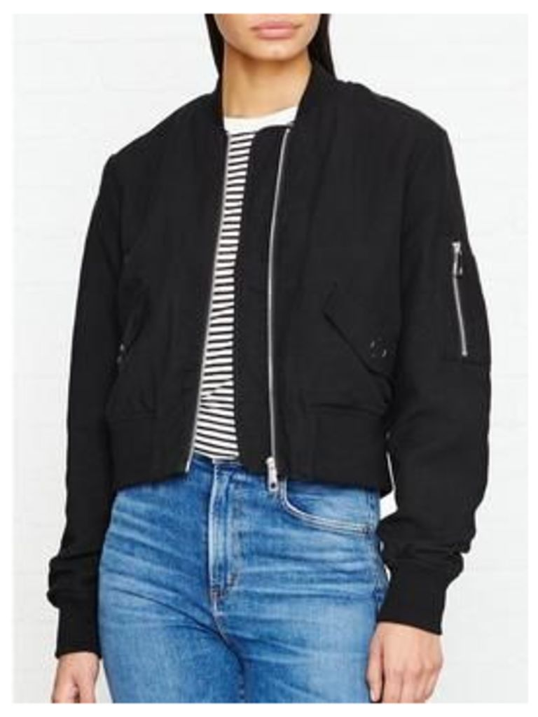 Whistles Rudy Bomber Jacket - Black