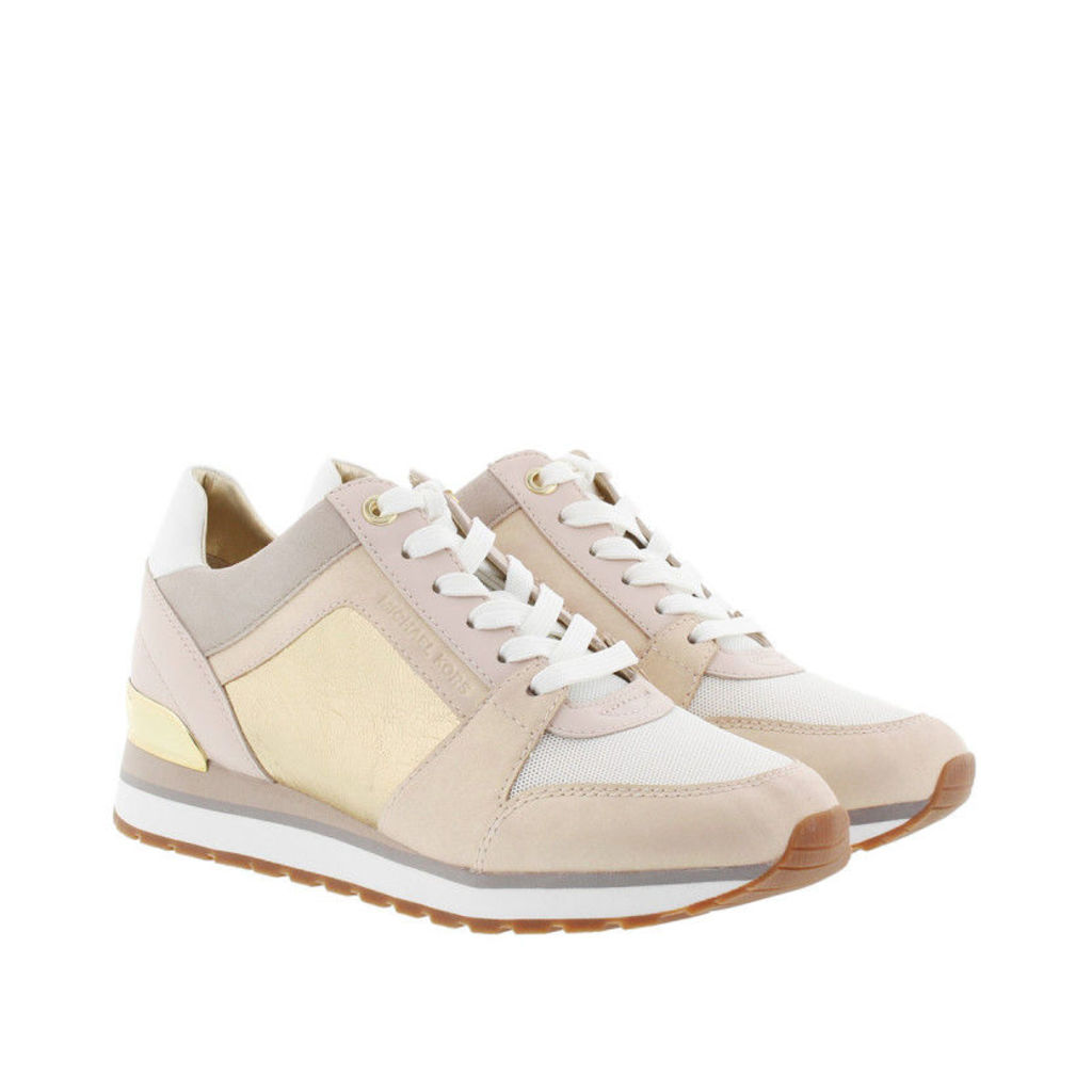 Michael Kors Sneakers - Billie Trainer Metallic Leather Soft Pink/Gold - in rose - Sneakers for ladies