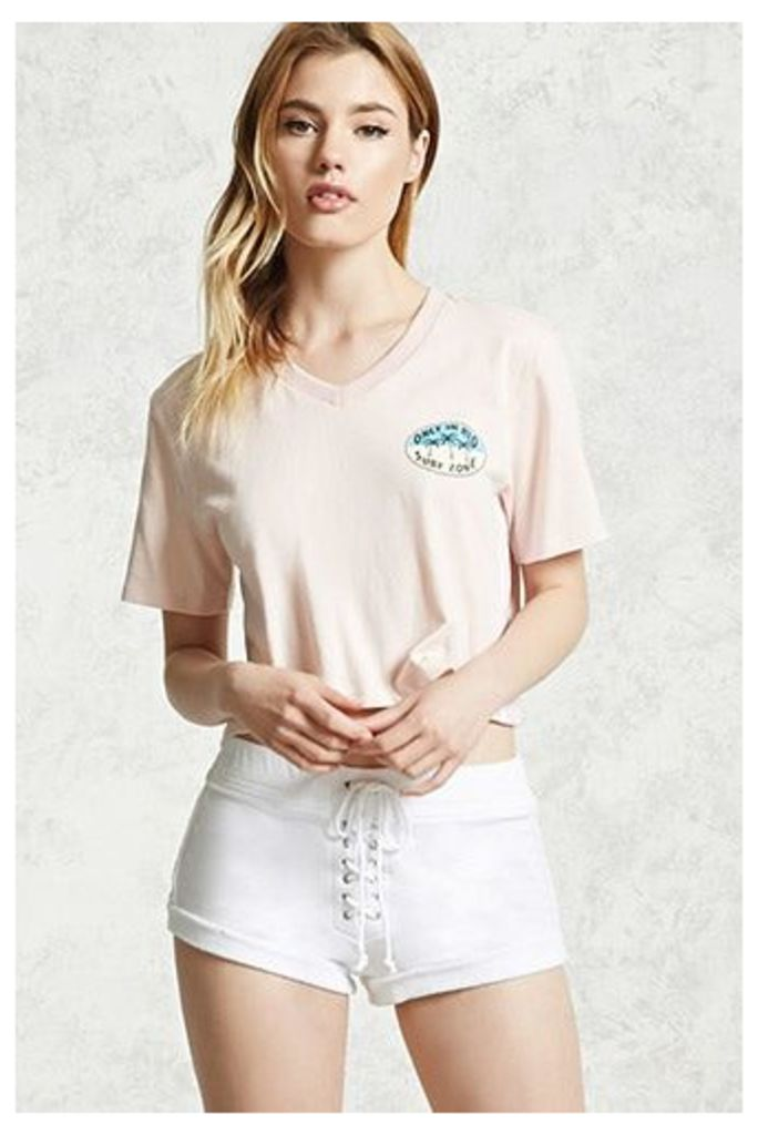 French Terry Lace-Up Shorts