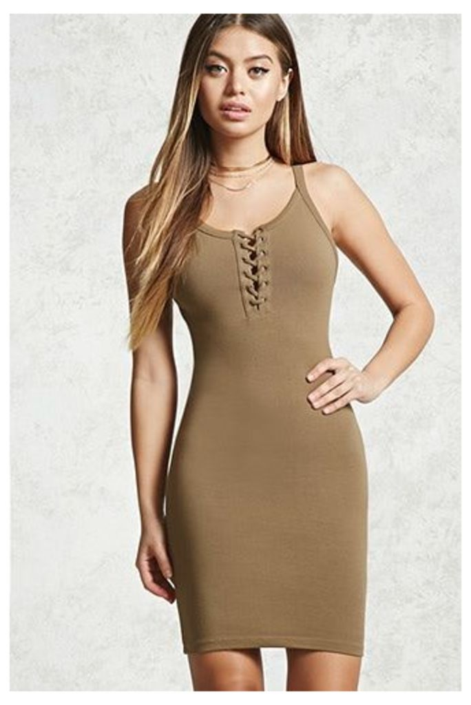 Lace-Up Cami Dress
