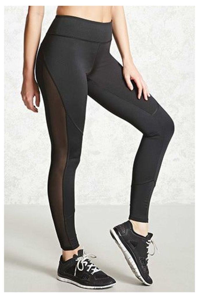 Active Mesh Paneled Leggings