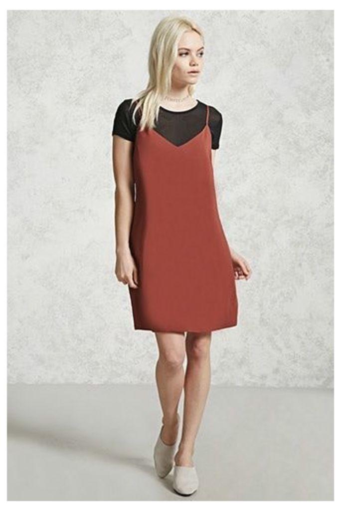 Mesh Knit Combo Dress