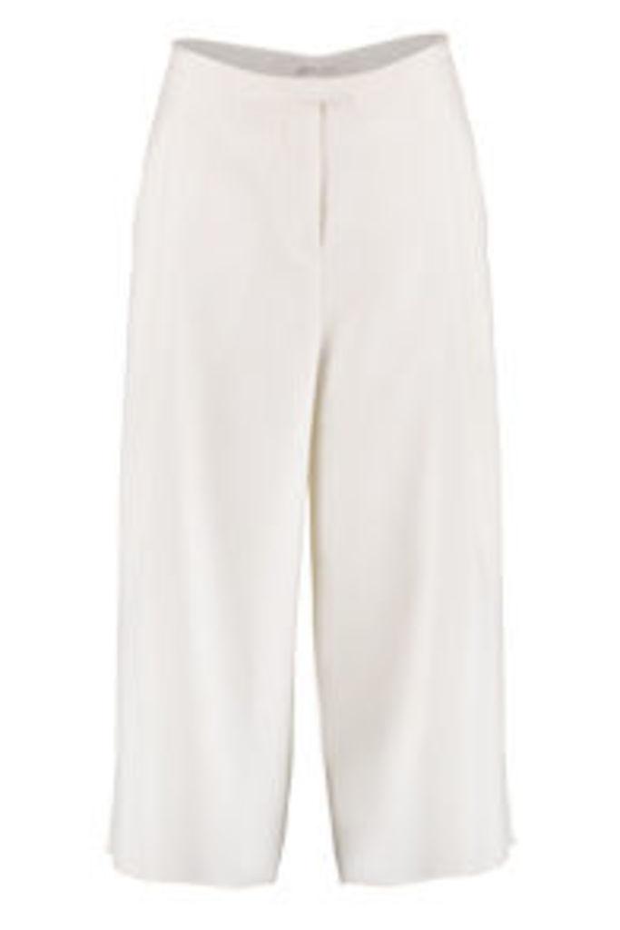 White High Waist Cropped Culottes