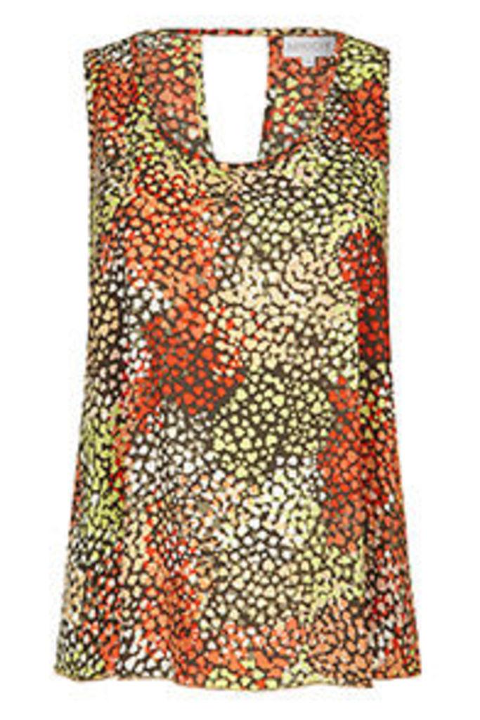 Multi-Coloured Layered Hearts Print Vest