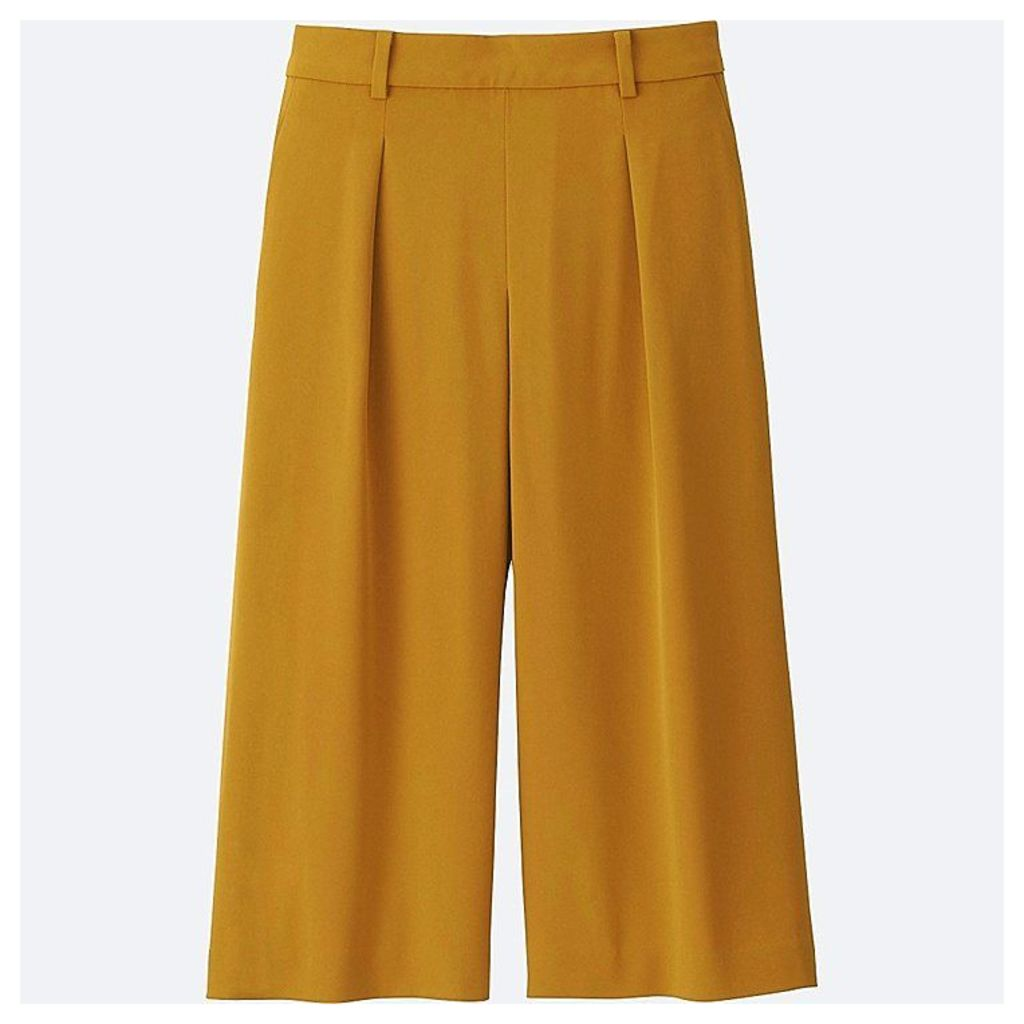 Uniqlo  Women Easy Care Drape Gaucho Trousers - Yellow - Xl