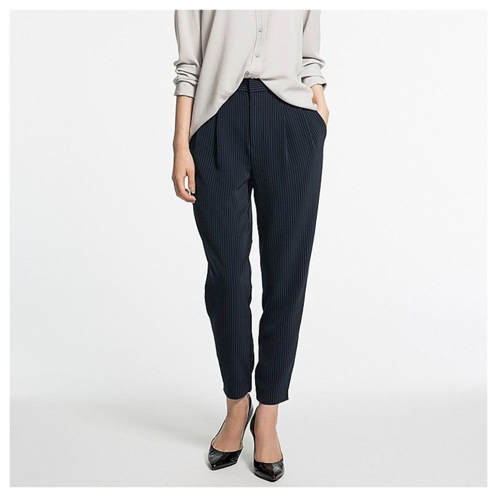 Uniqlo  Women Easy Care Drape Jogger Trousers - Navy - S