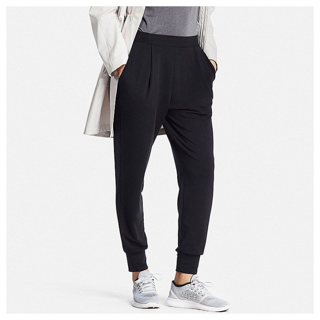 Uniqlo  Women Airism Stretch Ankle Pants - Black - M