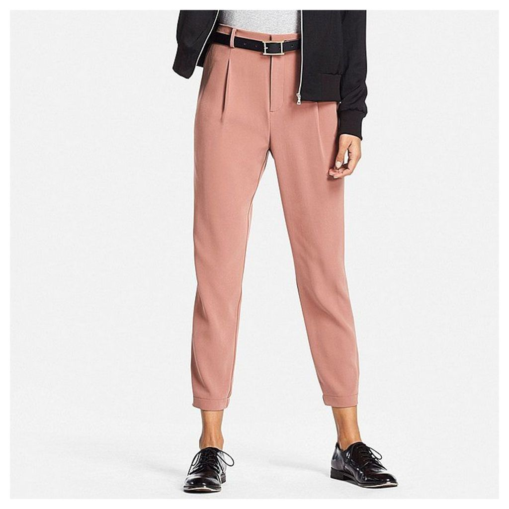 Uniqlo  Women Easy Care Drape Jogger Trousers - Brown - Xxl