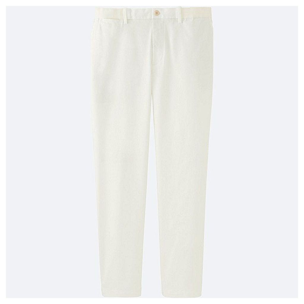 Uniqlo  Men Relaxed Ankle Trousers - White - S
