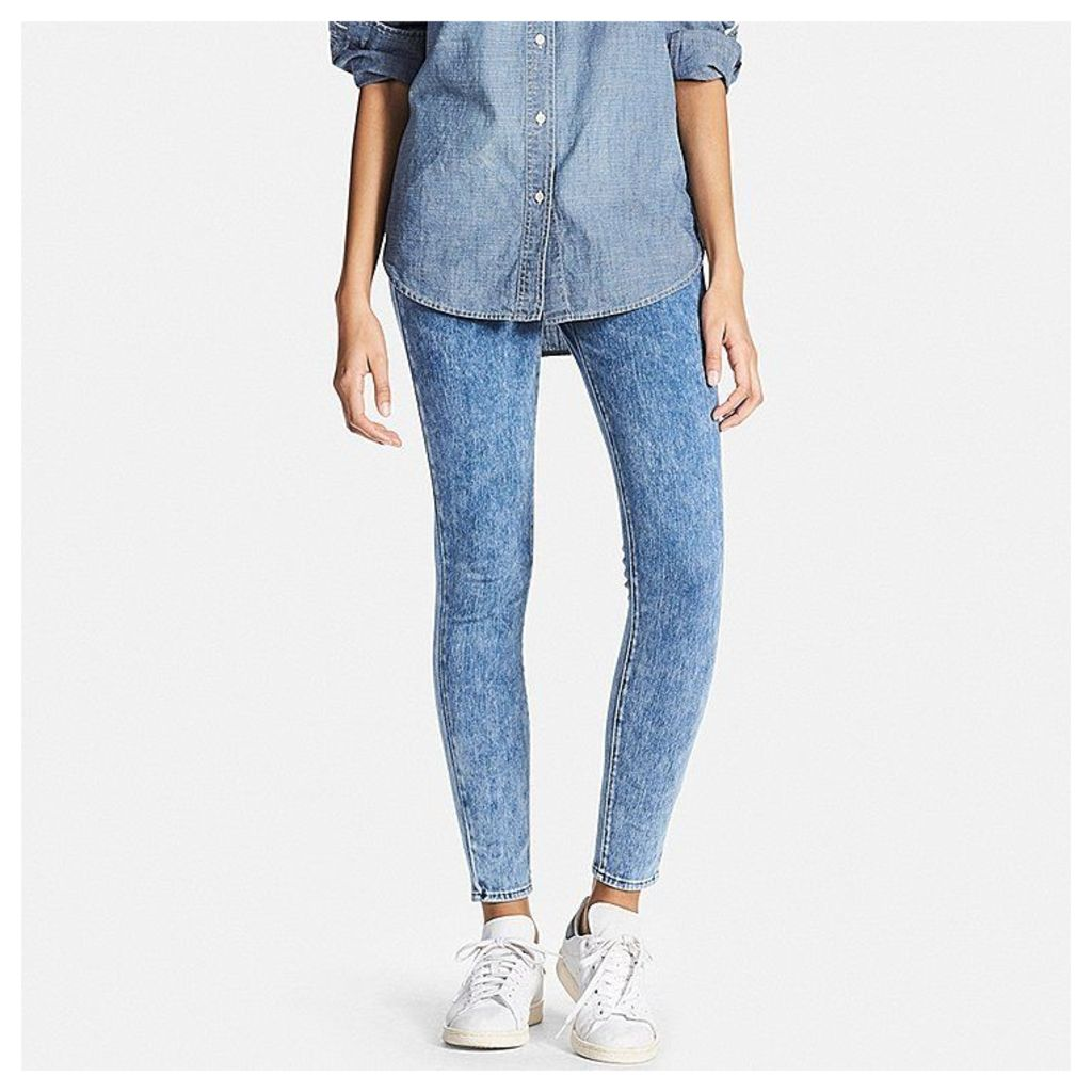 Uniqlo  Women Denim Leggings Trousers - Blue - S