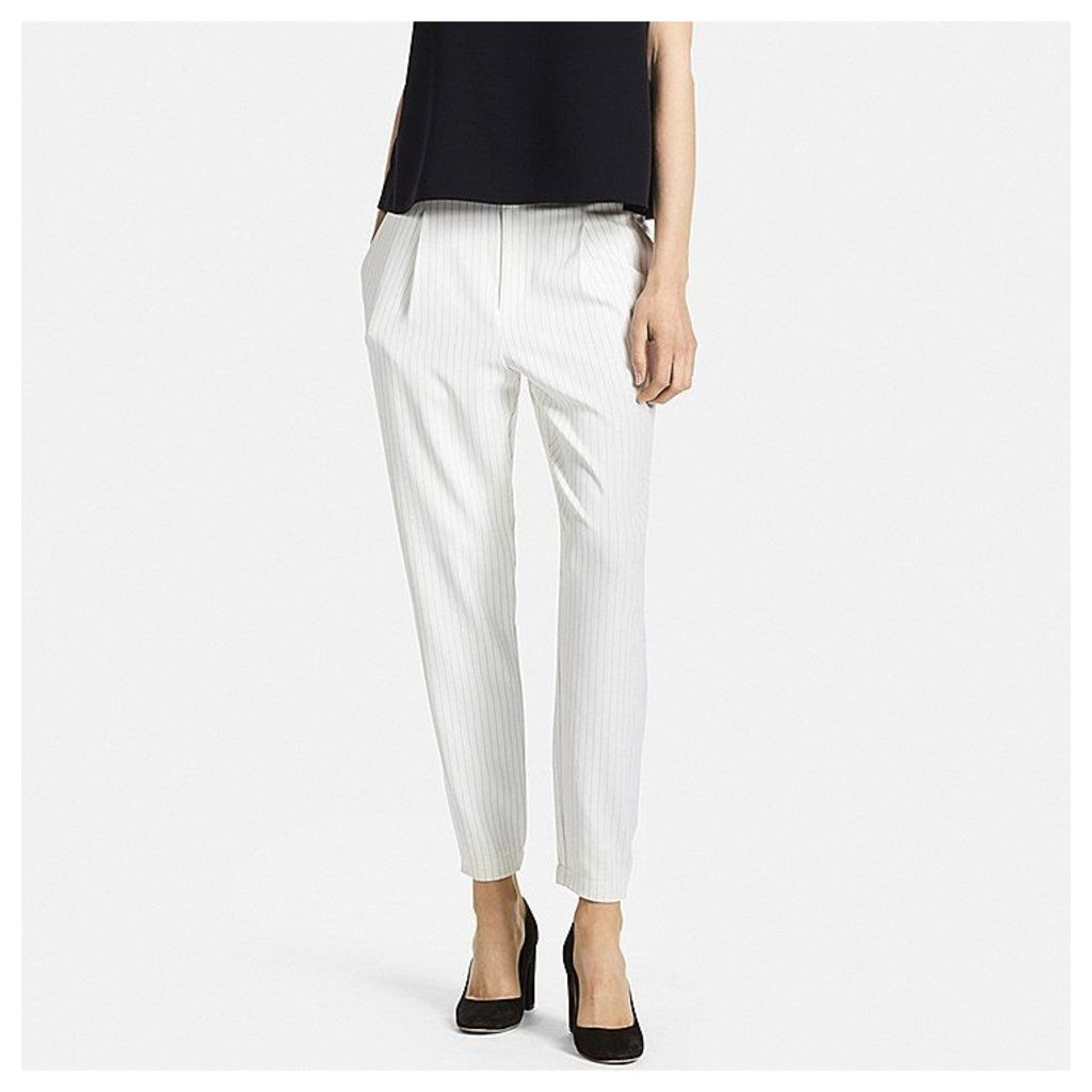 Uniqlo  Women Easy Care Drape Jogger Trousers - White - Xl