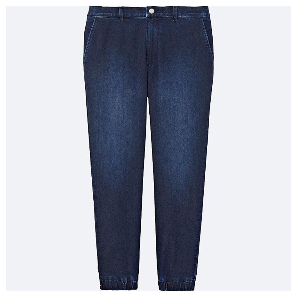 Uniqlo  Men Denim Jogger Pants - Blue - S