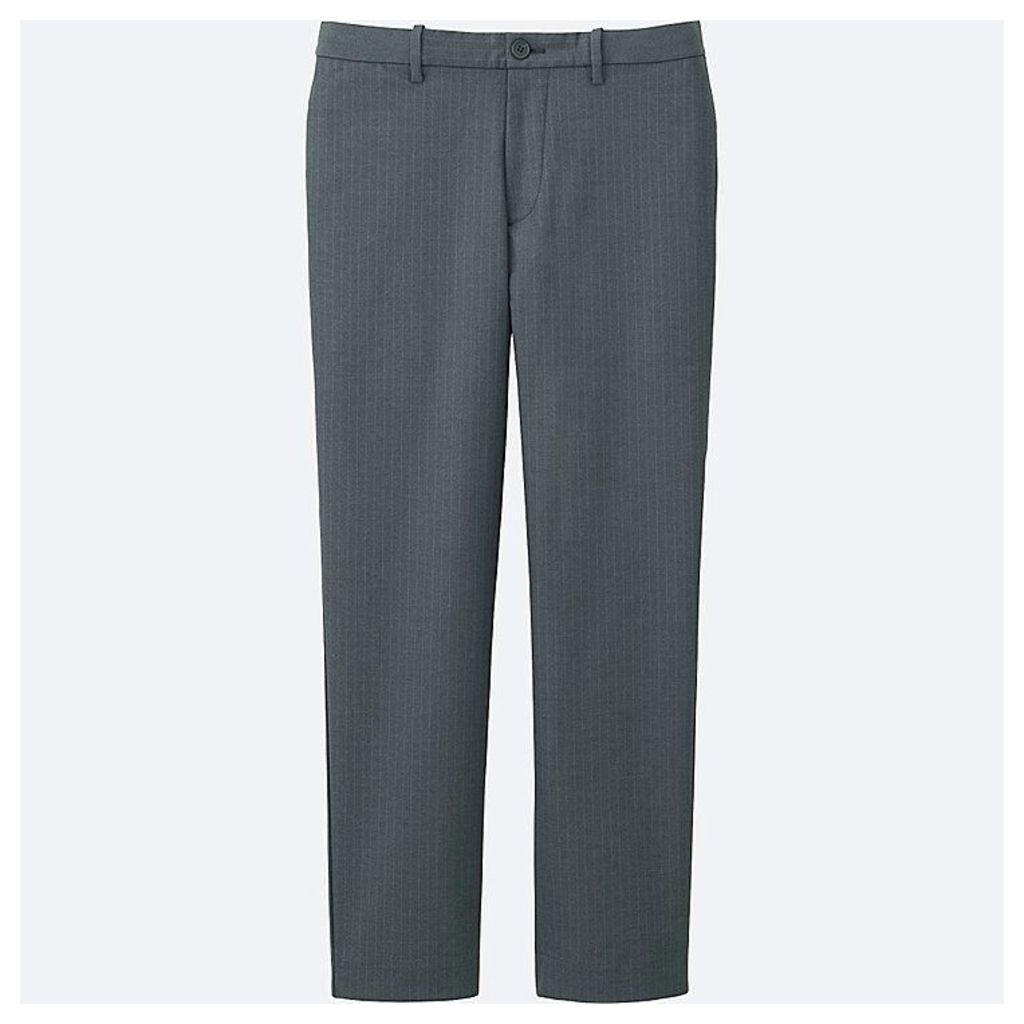 Uniqlo  Men Relaxed Ankle Trousers - Gray - L