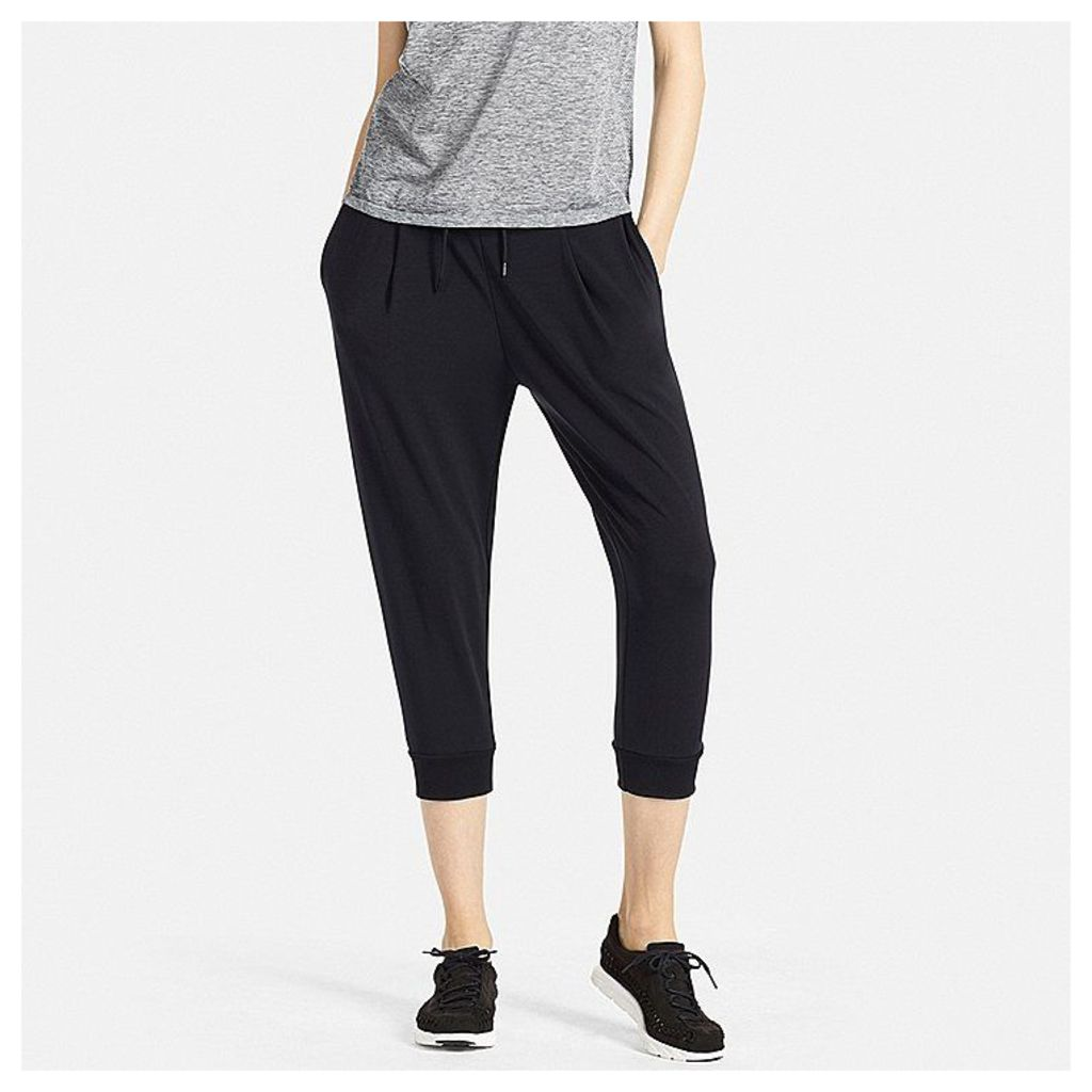 Uniqlo  Women Airism Stretch Cropped Trousers - Black - Xl