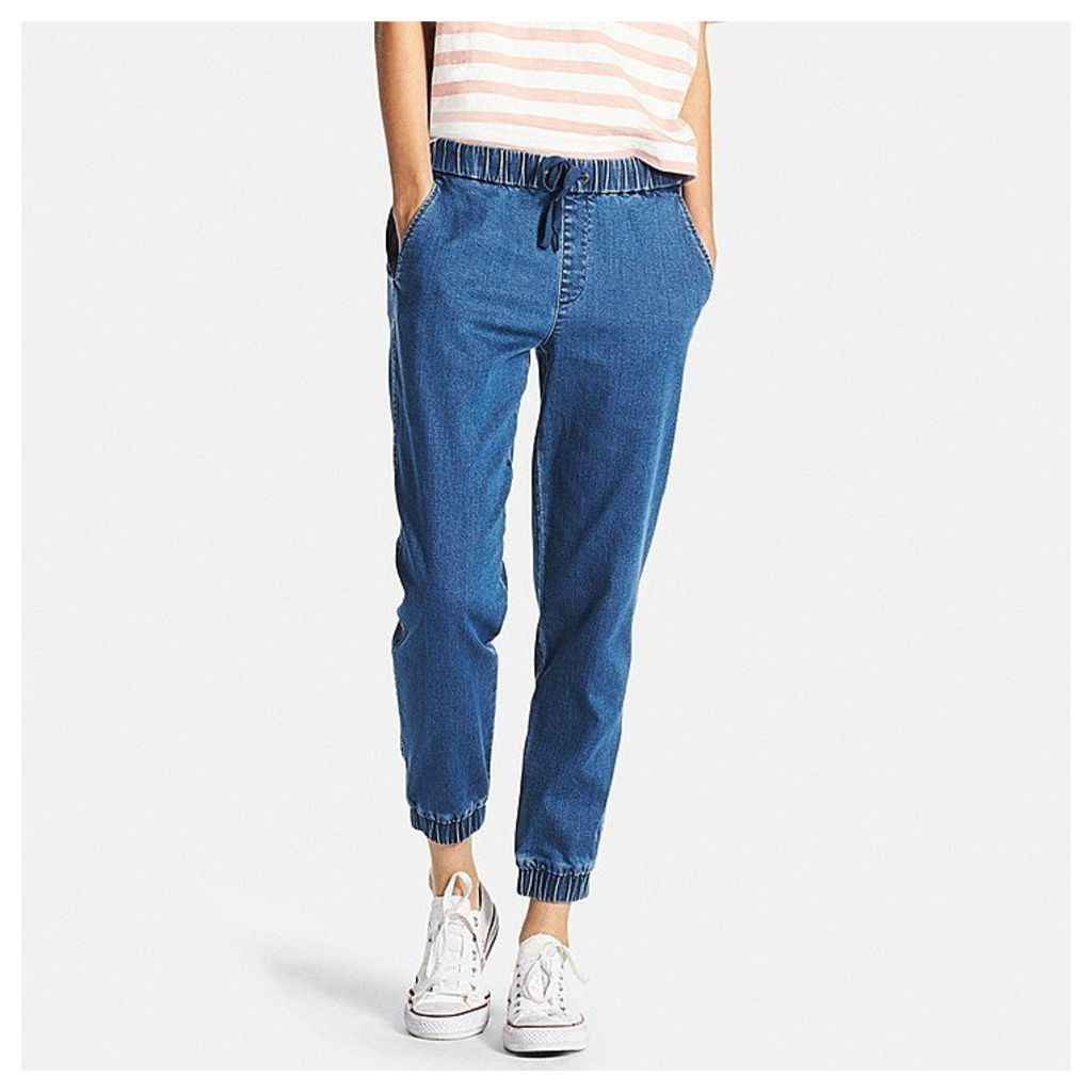 Uniqlo  Women Denim Jogger Pants - Blue - S