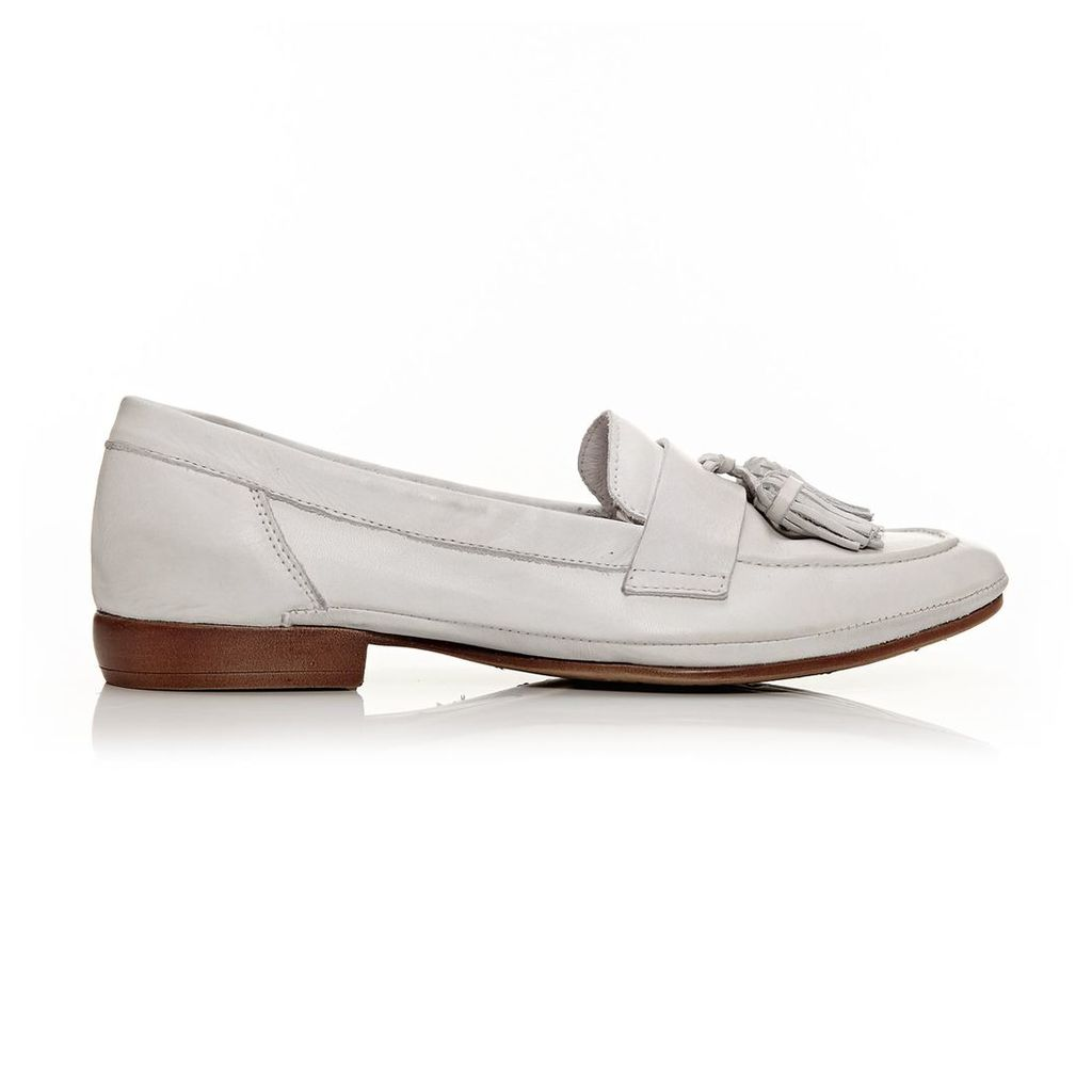 Moda in Pelle Erine White Flat Casual Shoes