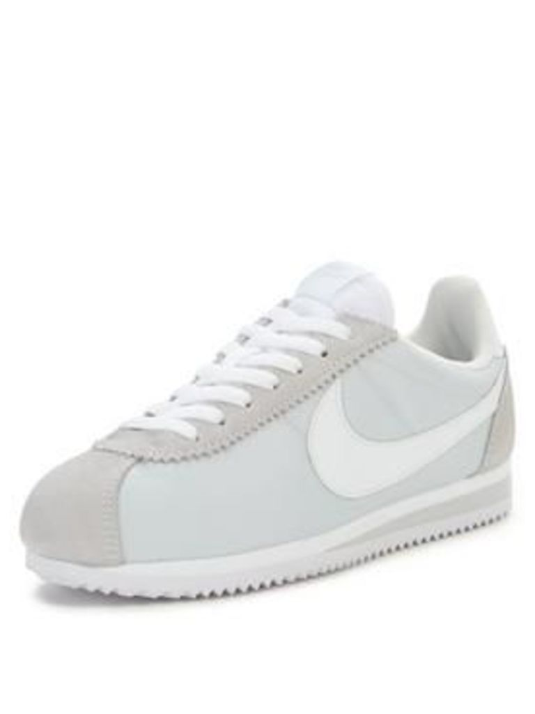 Nike Classic Cortez 15 Nylon Fashion Shoe - Silver