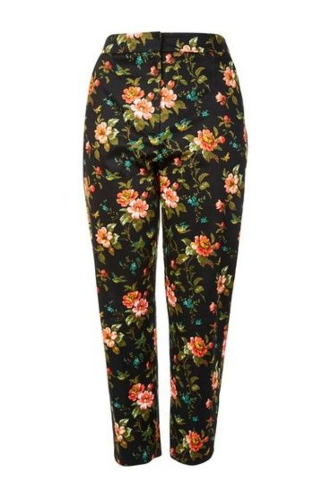 Womens TALL Floral Jacquard Cigarette Trousers - Multi, Multi
