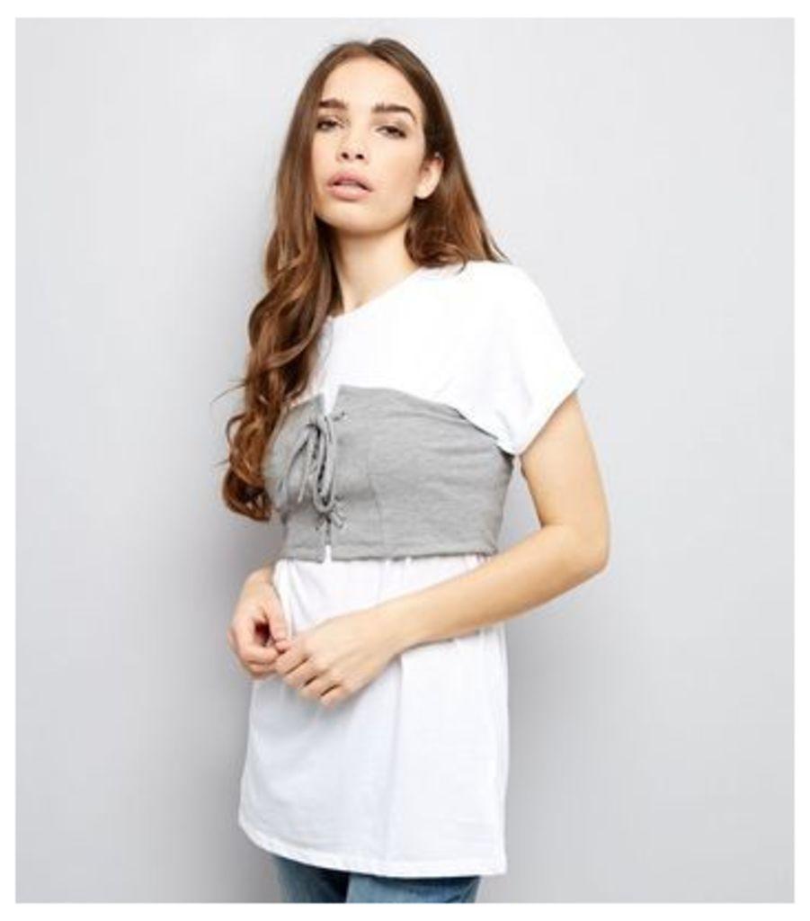 Grey Corset Bandeau