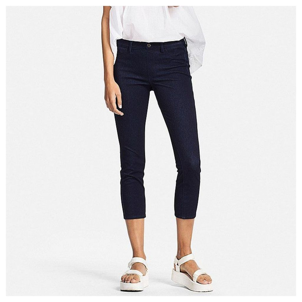 Uniqlo  Women Denim Cropped Leggings Trousers - Navy - L