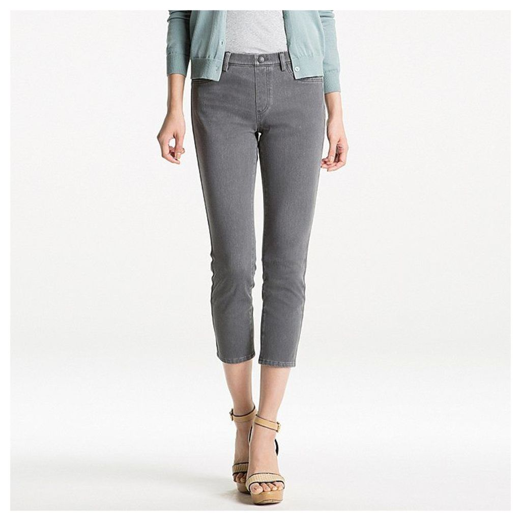 Uniqlo  Women Denim Cropped Leggings Trousers - Gray - L