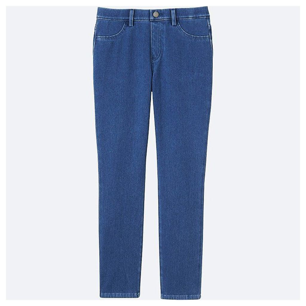 Uniqlo  Women Denim Cropped Leggings Trousers - Blue - L