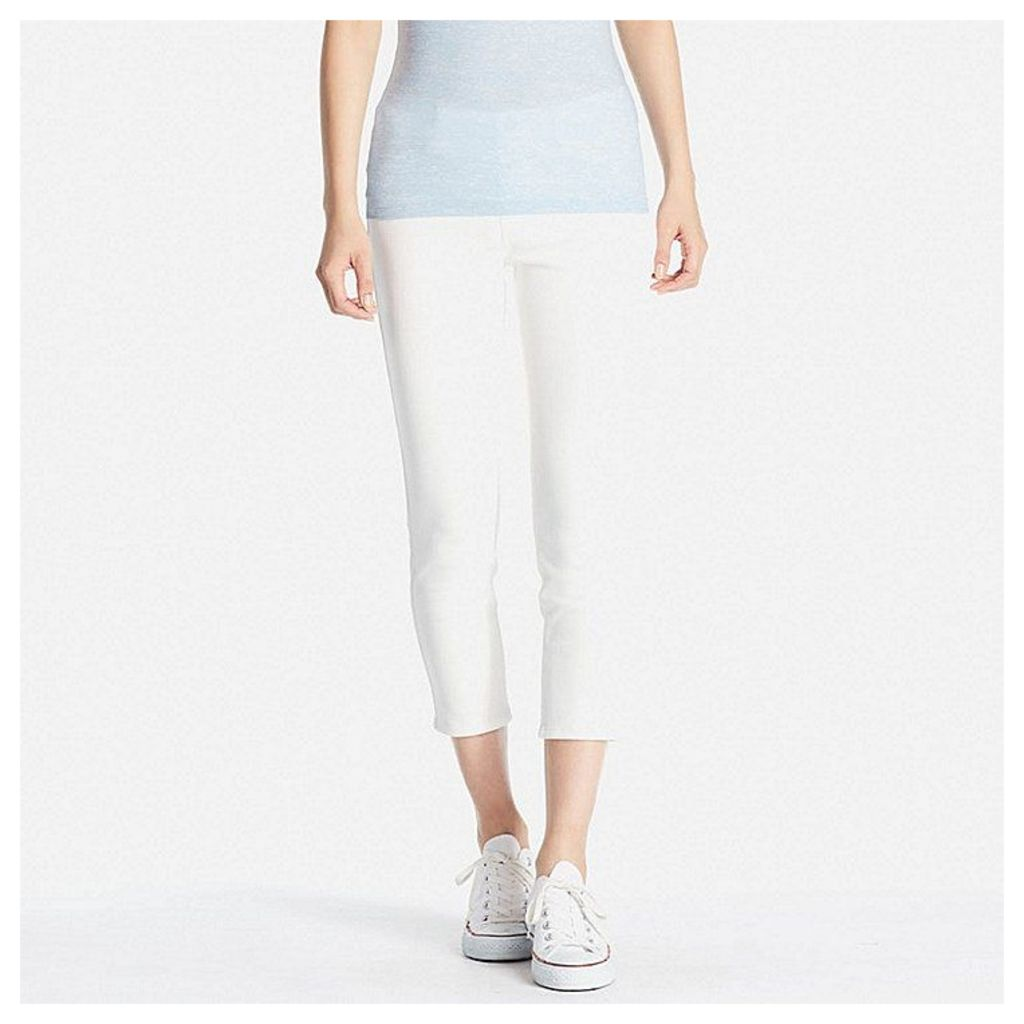 Uniqlo  Women Cropped Leggings Trousers - White - M