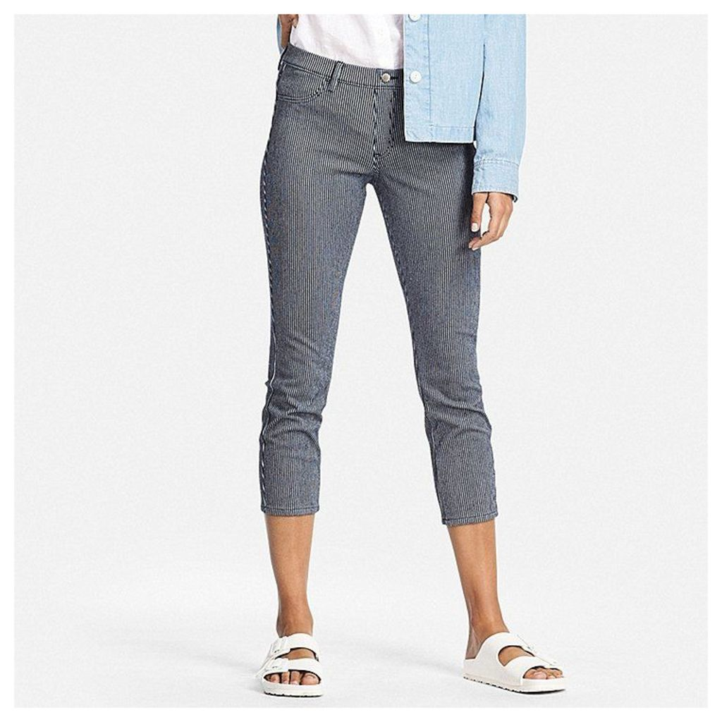 Uniqlo  Women Cropped Leggings Trousers - Blue - Xxs