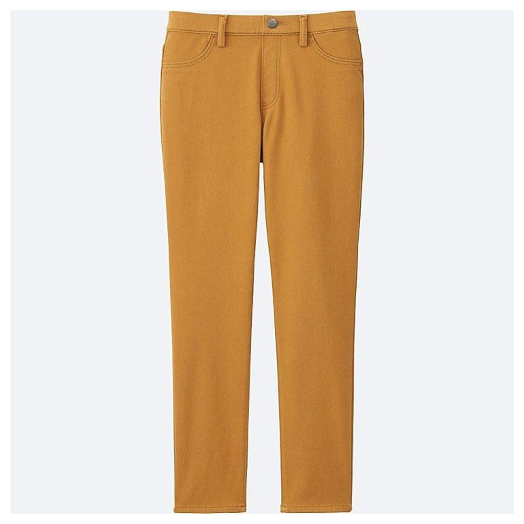 Uniqlo  Women Cropped Leggings Trousers - Yellow - L