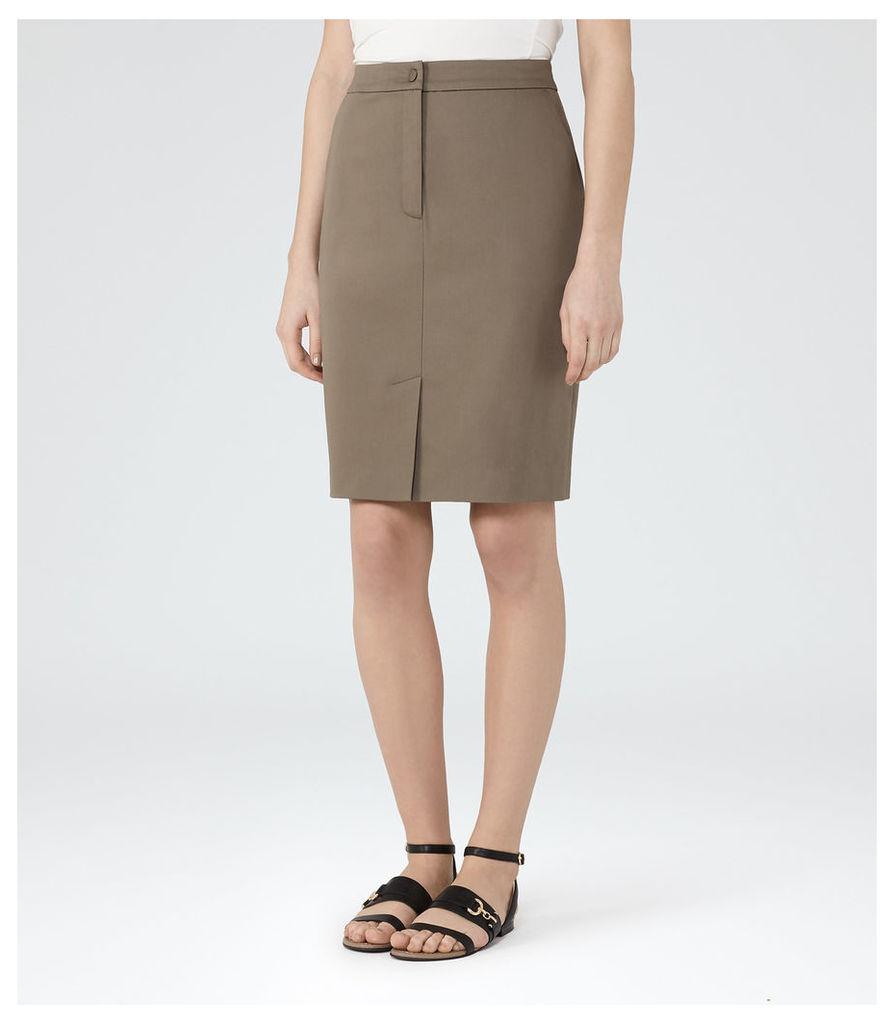 REISS Raia - Womens Casual Pencil Skirt in Brown