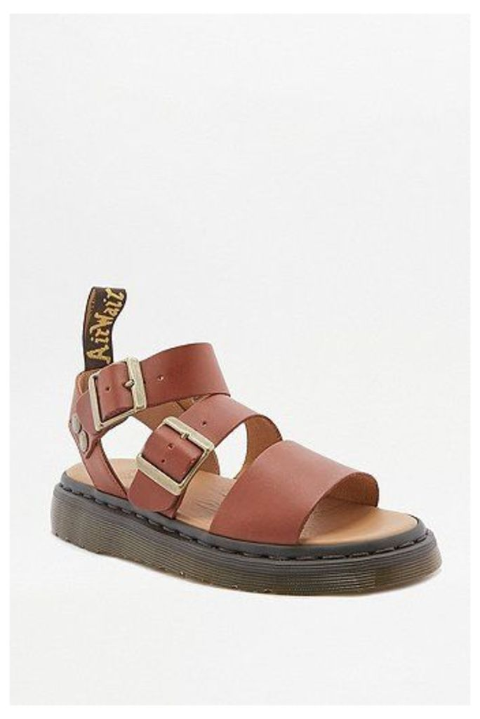 Dr. Martens Gryphon Tan Sandals, Brown