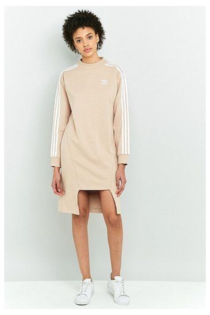 adidas Originals Notched Hem Sweatshirt Dress, Pink