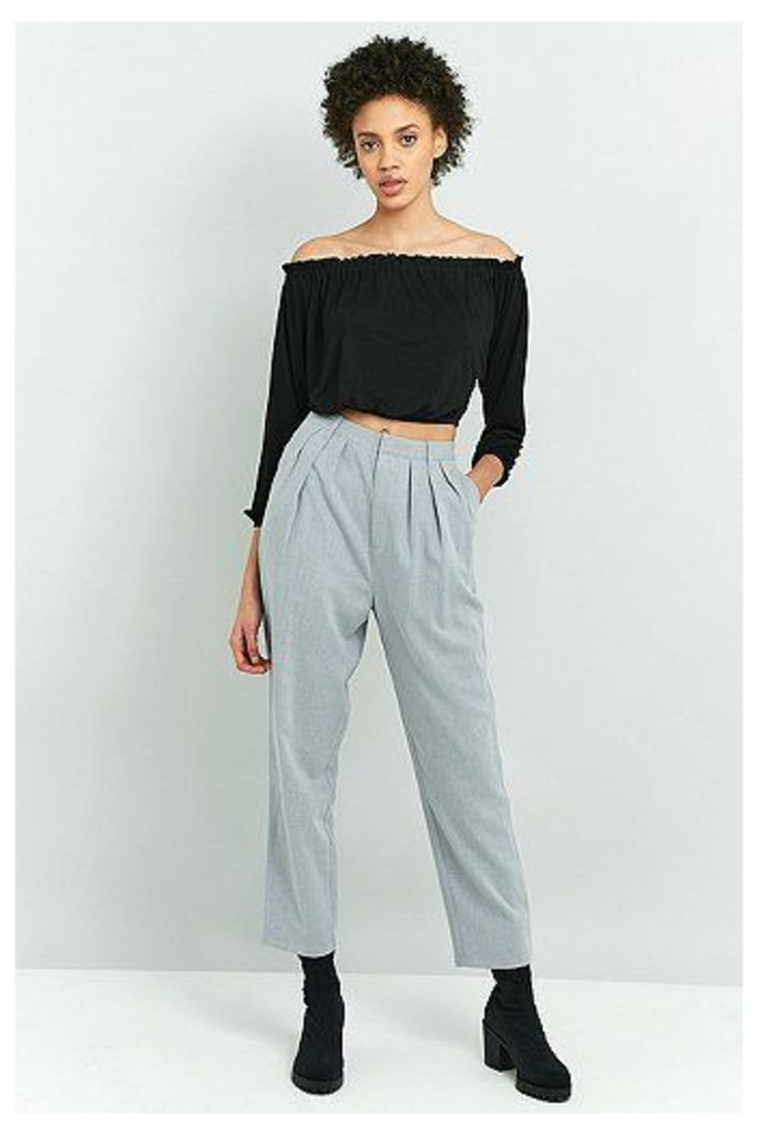 Light Before Dark '80s High Waist Tapered Trousers, Sky