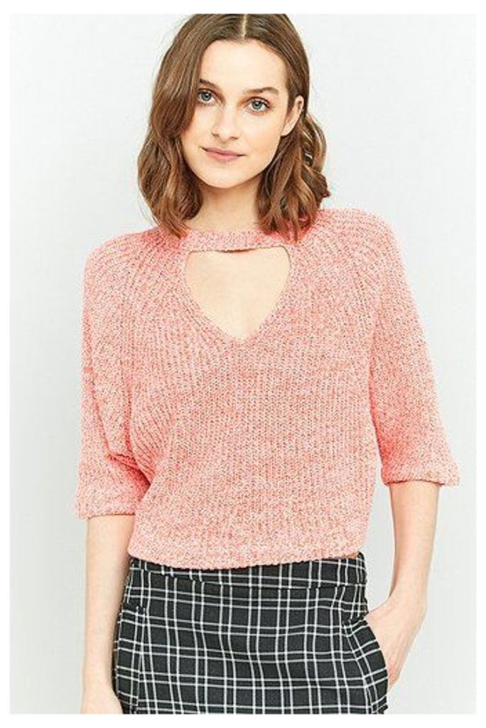 Silence + Noise Maddie Open Front Crop Top, Pink