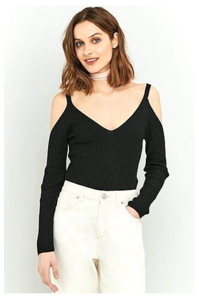 Pins & Needles Cold Shoulder Jumper, Black