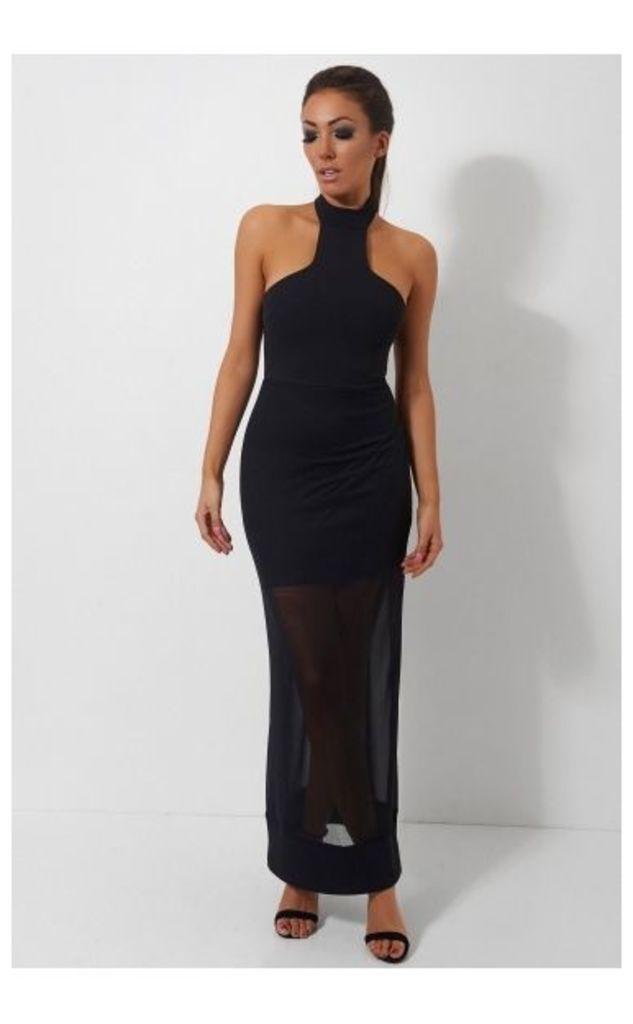 Black Chiffon Choker Dress